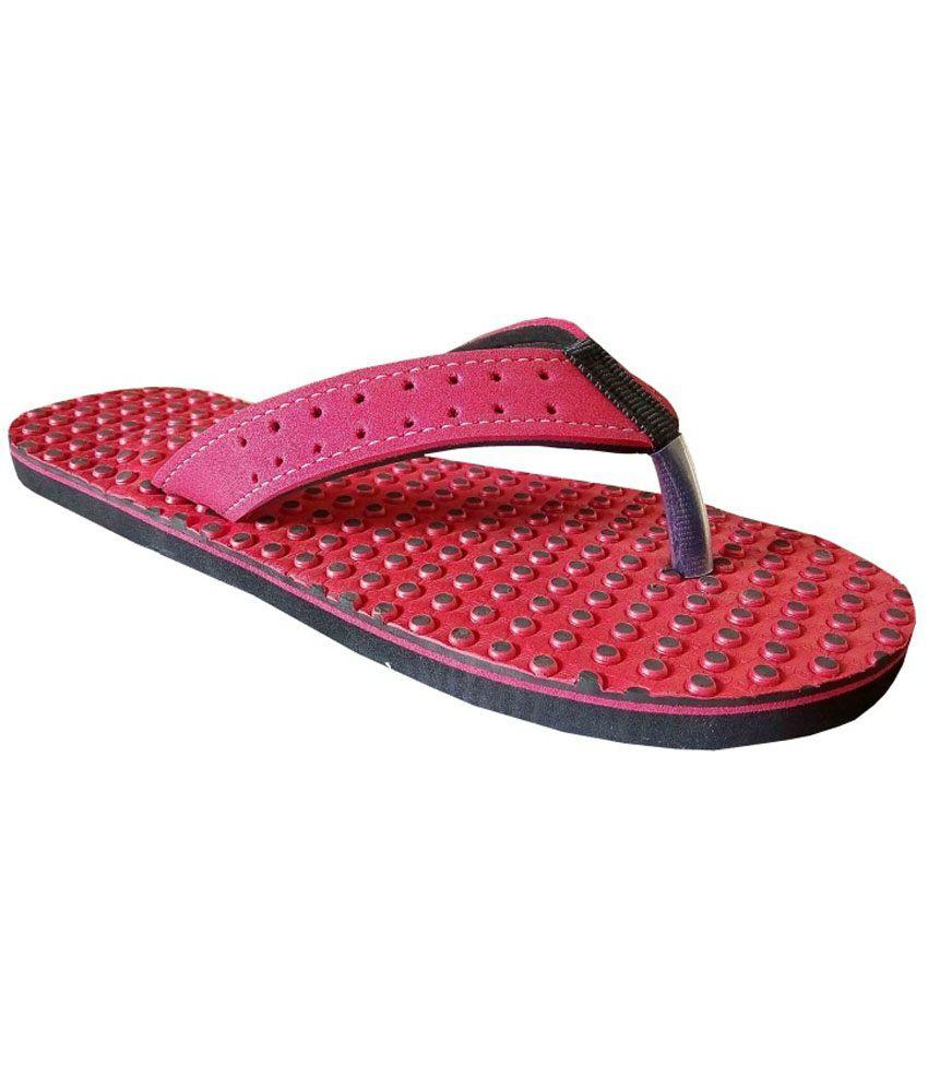 Unispeed Accupressure & Red Foot Relief Slippers