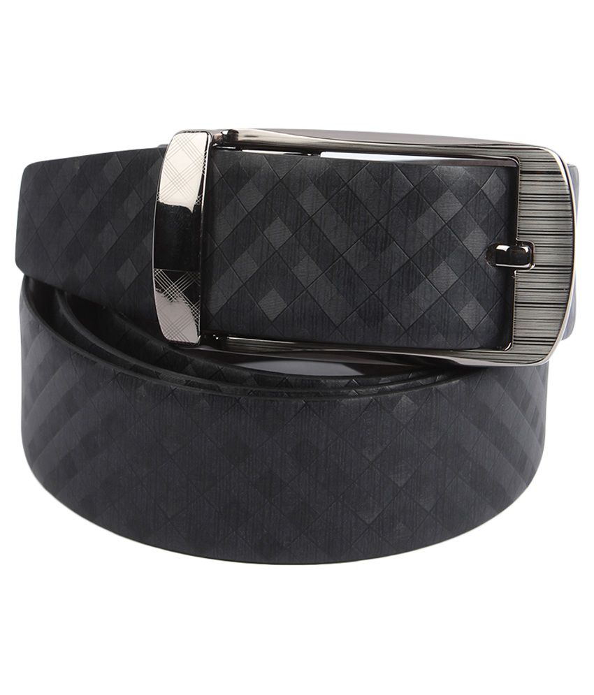 Waist Wire Black Leather Formal Reversible Belt