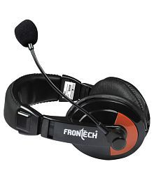Frontech JIL-3442 Over Ear Headphones with Mic- Black