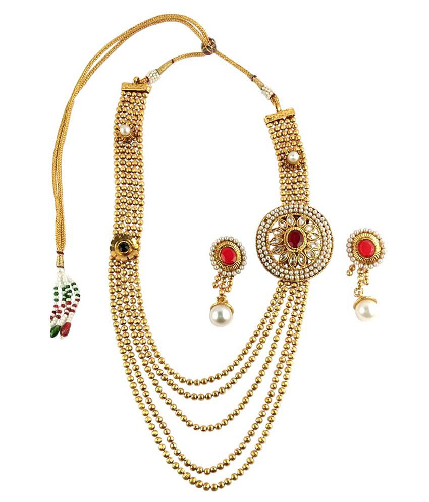 83a503426032de Ratnaraj Jewellery Modern & Fancy Style Designer Gold Plated with Pearl Necklace  Set - Buy Ratnaraj Jewellery Modern & Fancy Style Designer Gold Plated with  ...