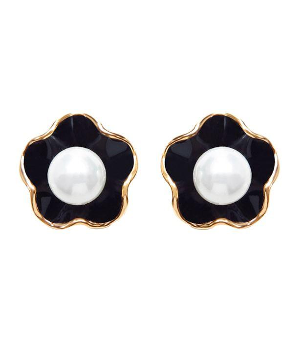 Sparkling Drop Silver Brass CZ Stud earrings