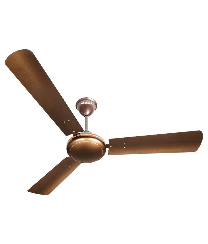 Havells 48 Ss 390 Met Ceiling Fan Brown Price In India