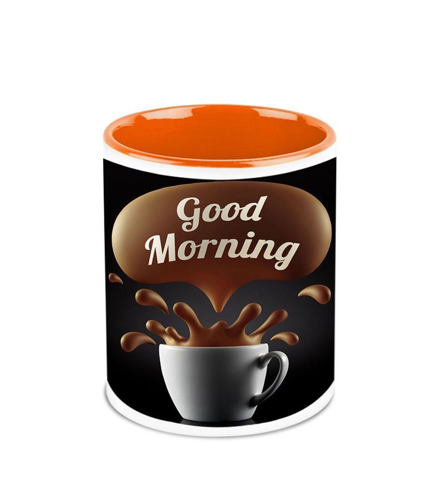 HomeSoGood A Very Good Morning Ceramic Coffee Mug: Buy