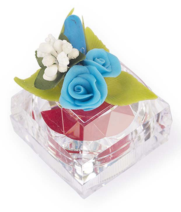 I-am Blue And White Floral Ginni Box