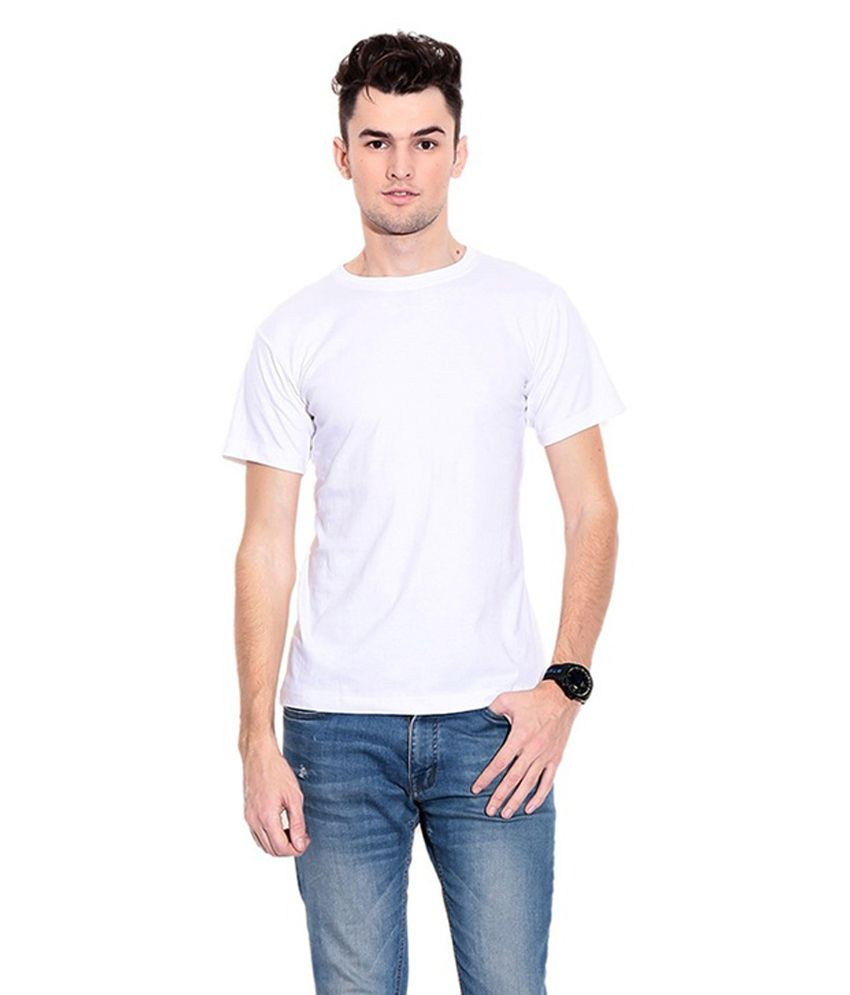 Kikki White Cotton T-Shirt