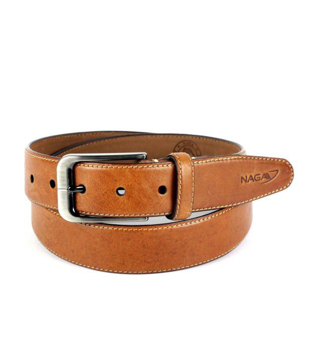 Naga Tan Leather Formal For Men