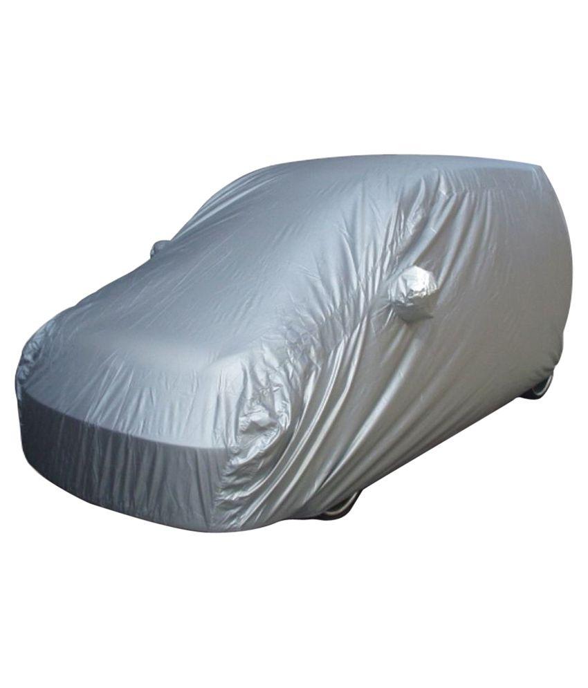 Alexus Grey Polyester Car Cover For Honda Brio