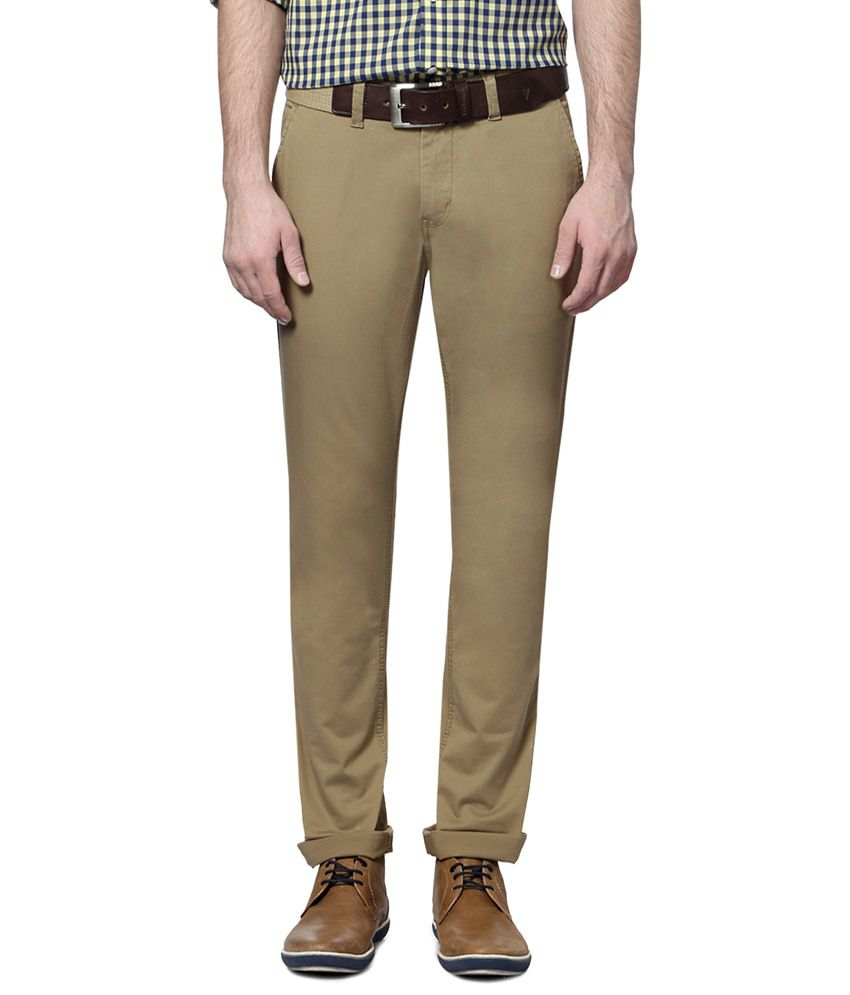 Van Heusen Khaki Trouser for Men