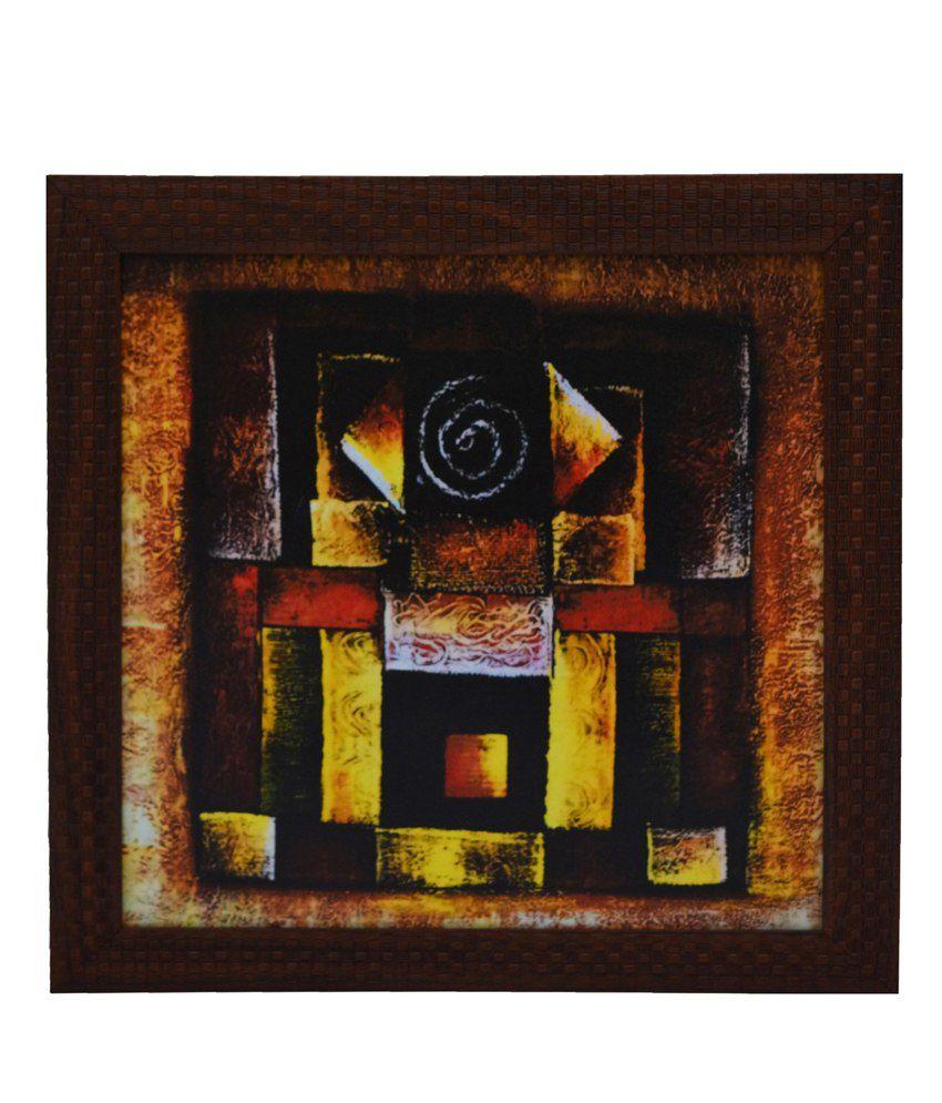 eCraftIndia Abstract Design Satin Matt Texture Framed UV Art Print