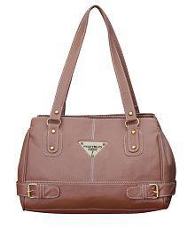 Fostelo Beige Faux Leather Shoulder Bag