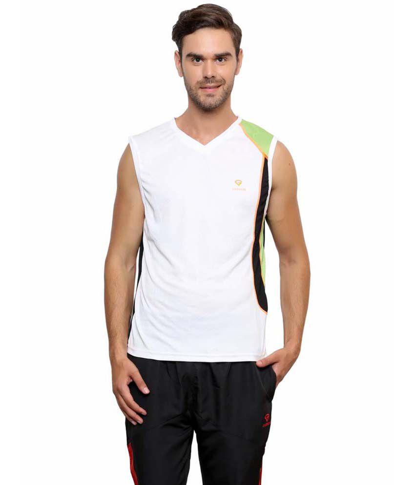 Gypsum White Polyester T Shirts