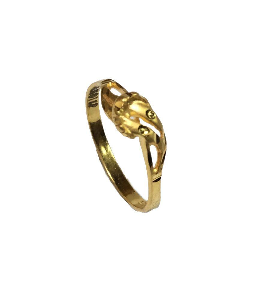 Kataria Jewellers 22KT Gold Centre Focused Ladies Ring