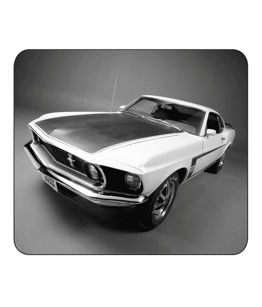 Black And White Ford: Mic Multicolor Rubber Base Black And White Ford Mustang