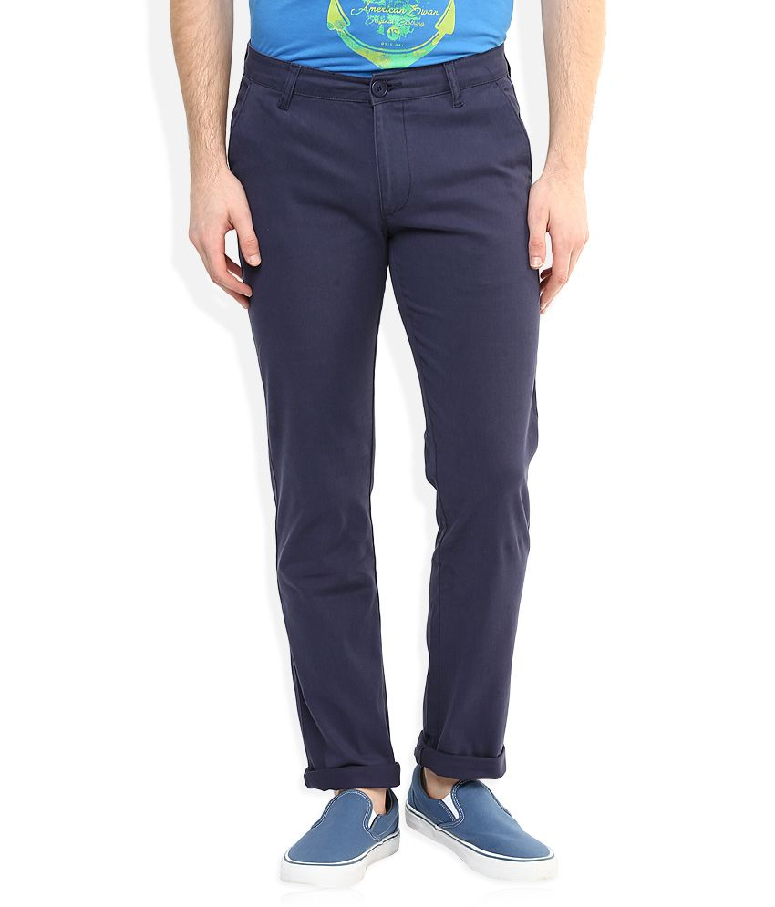 American Swan Blue Casuals Chinos