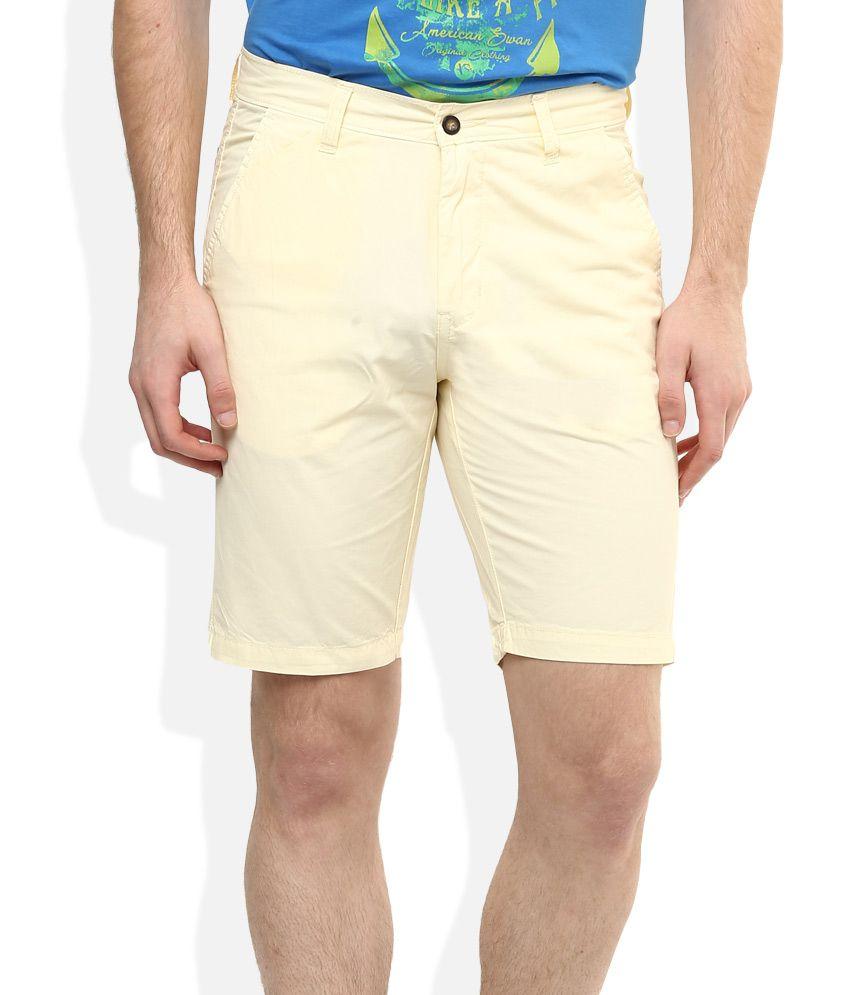 American Swan Yellow Solids Shorts