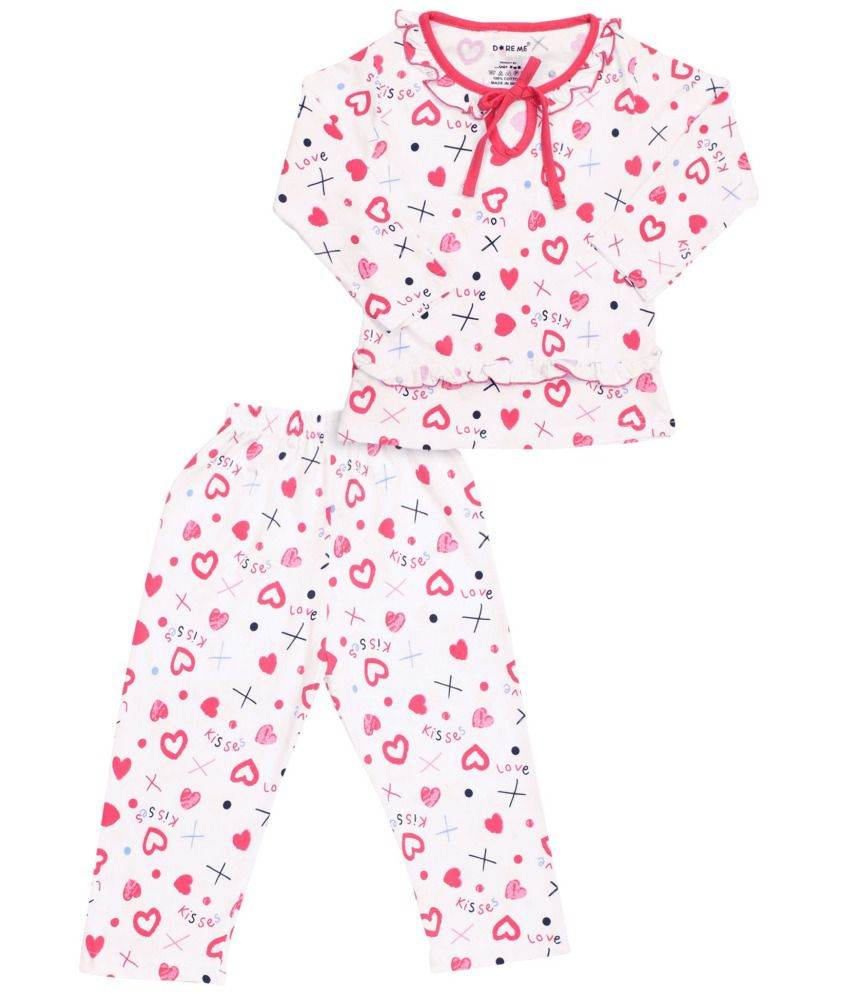 668f551d95 Doreme White Nightsuit For Girls - Buy Doreme White Nightsuit For Girls  Online at Low Price - Snapdeal