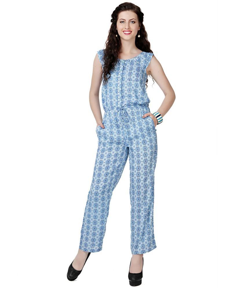 Eavan Blue Printed Jumpsuit