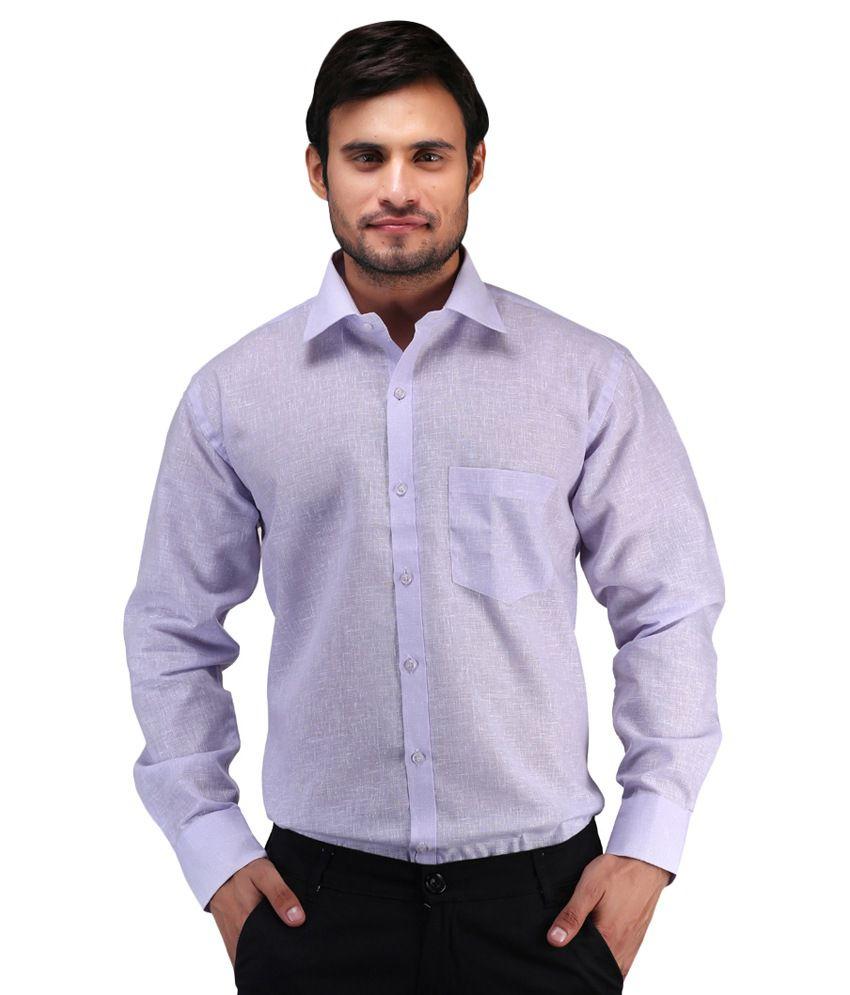 J K Purple Formal Shirt - Pack Of 2