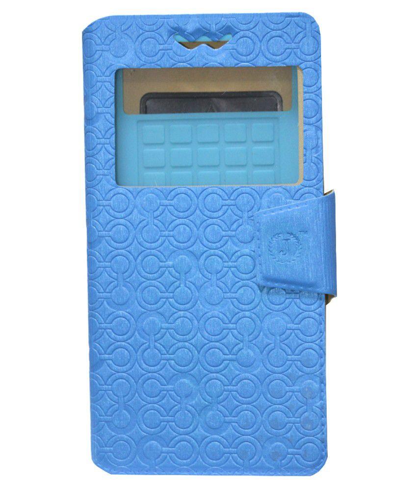Jo Jo Flip Cover For Intex Aqua I5 Mini Exotic - Blue