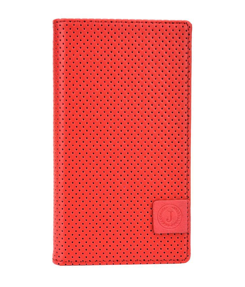 Jo Jo Synthetic Flip Cover For Samsung Galaxy Note 3 - Red