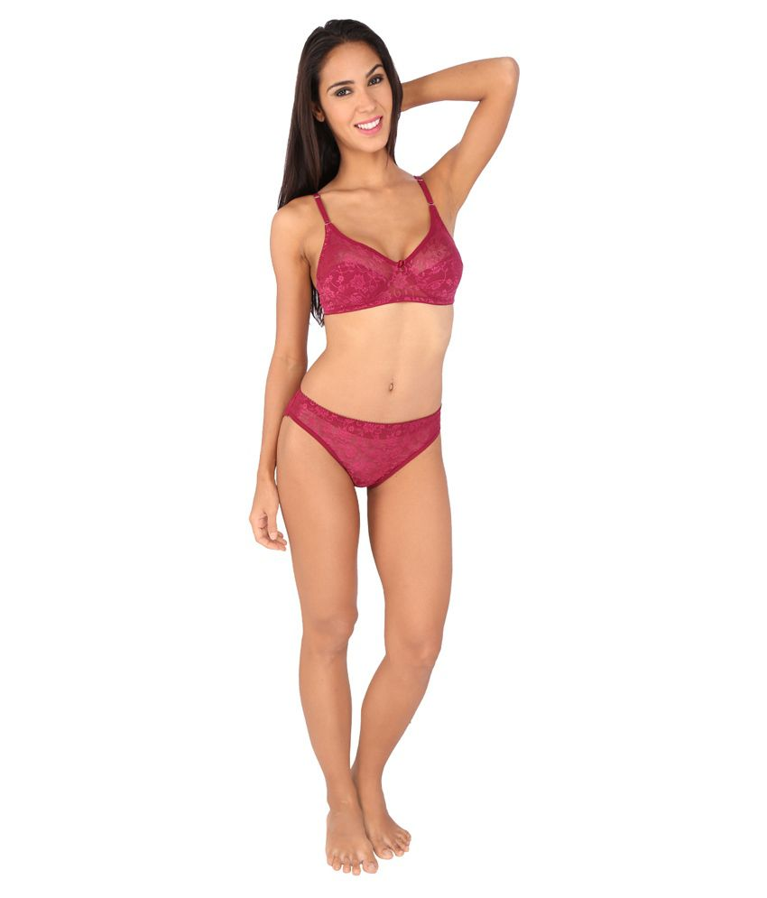 6ab7670acc20e Buy Bralux Women s Madhu Lace Full Cup B Bra   Panty Set Online at ...