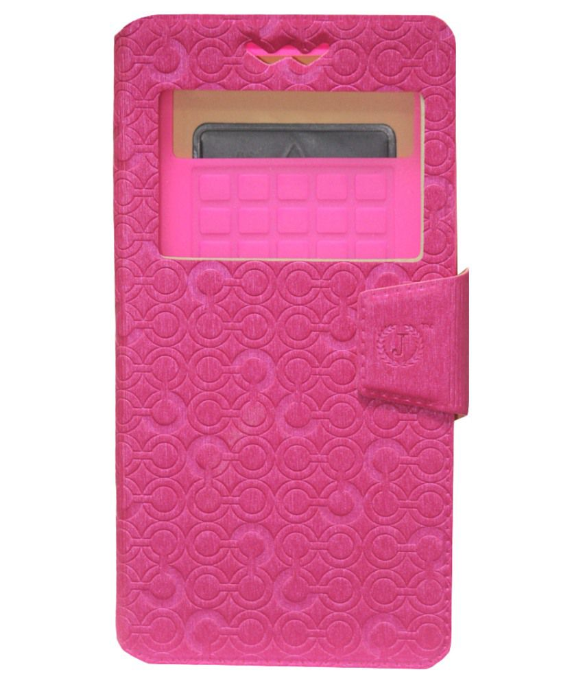Jo Jo Flip Cover For LG L Prime - Pink