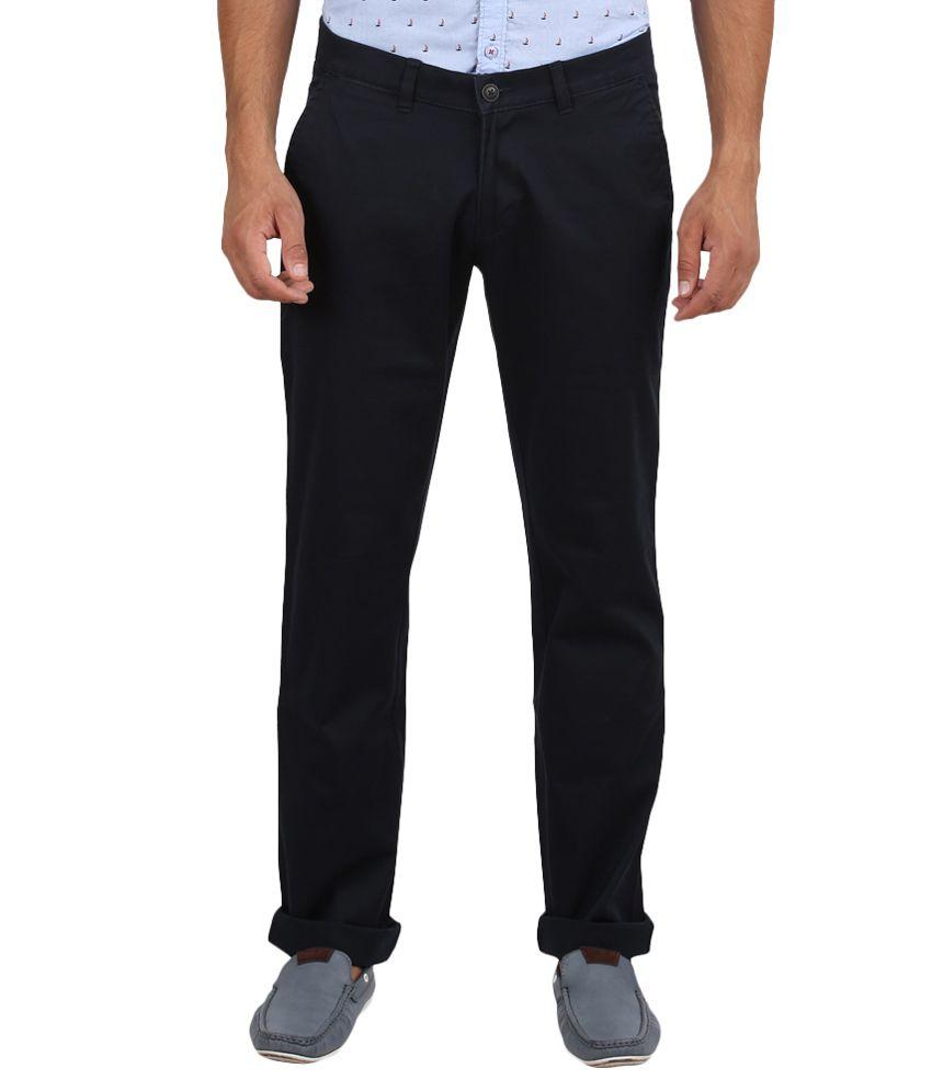 Volume Zero Black Slim Fit Formal Flat Trouser