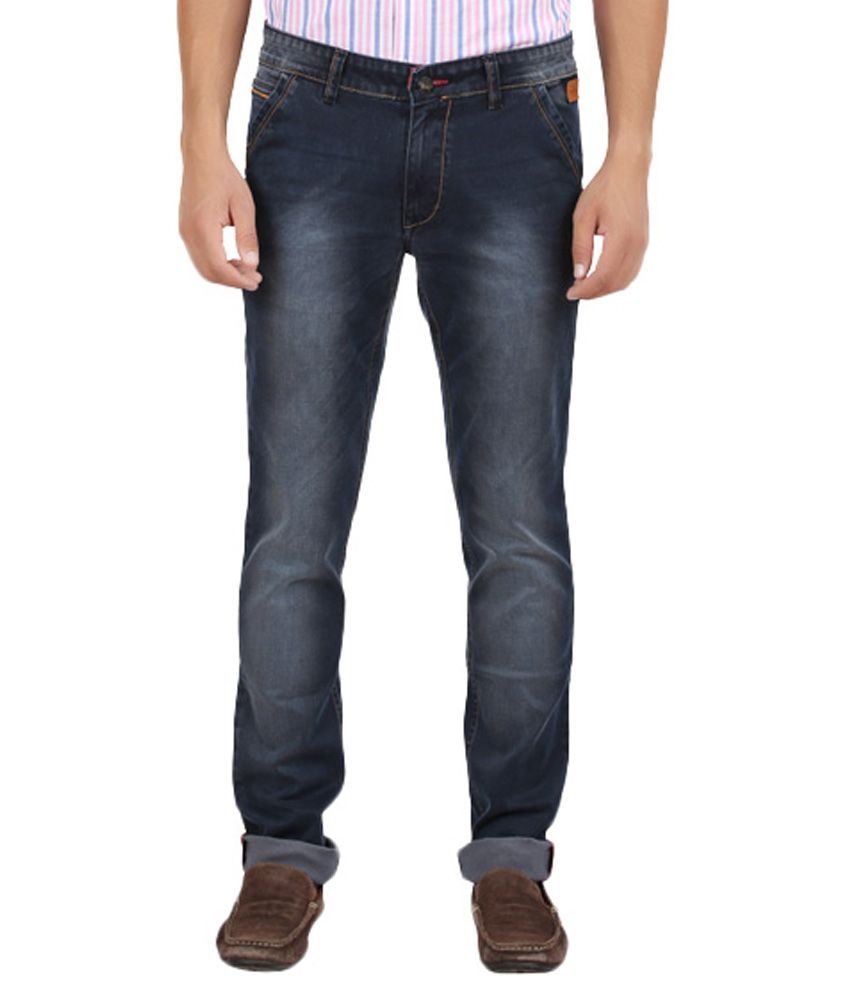 Volume Zero Blue Slim Fit Jeans