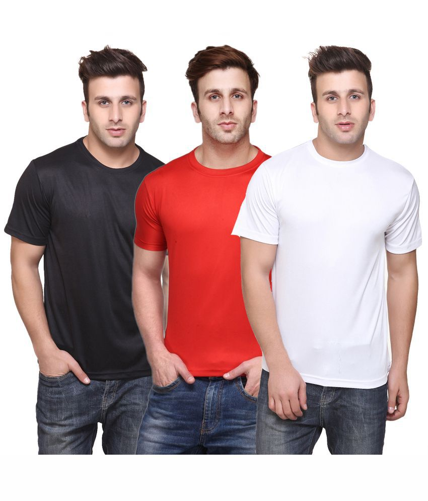 Funky Guys Multicolor Cotton Blend T - Shirt - Pack of 3