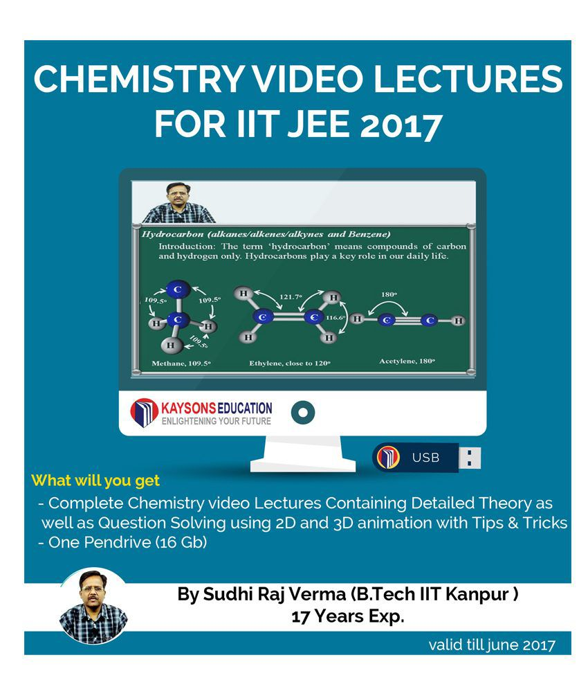 Kaysons Mechanics Video Lectures for JEE Mains and Advance in Pendrive/Micro Sd Card By IITians with 17 years of Exp.