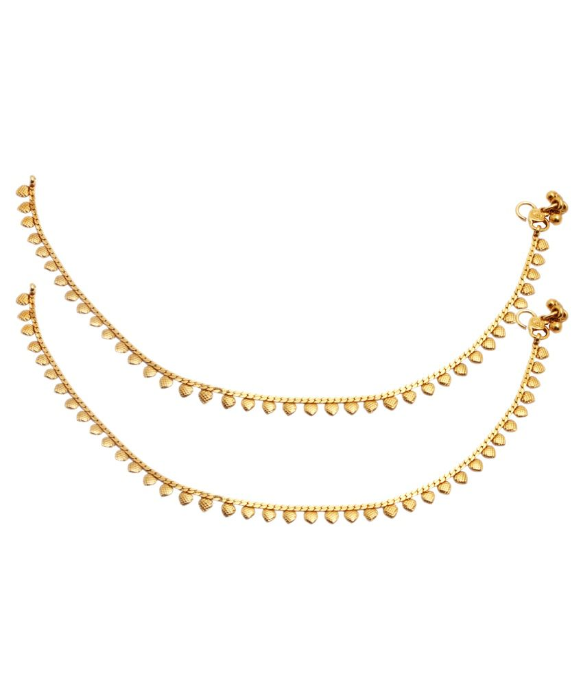 Party Queen Golden Alloy Anklet