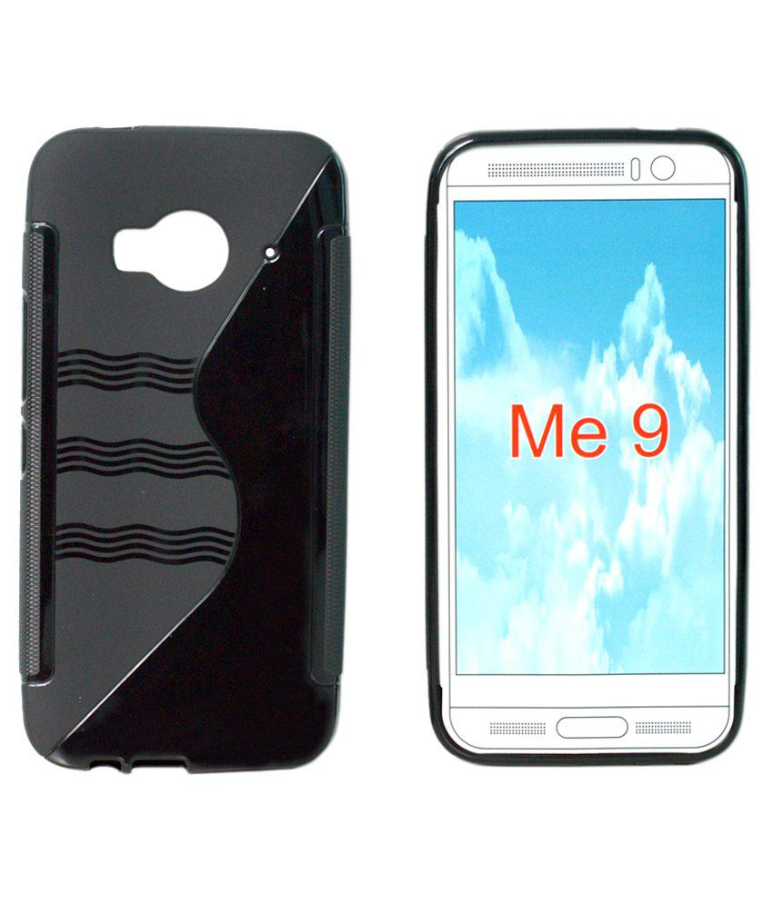 promo code 44aec 0b339 Totta Silicone Back Cover For HTC One ME 9 -Black