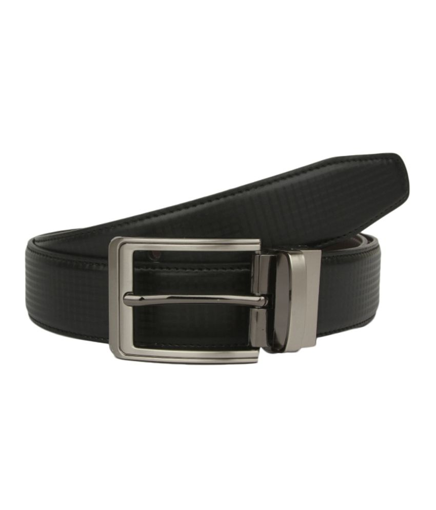 Alvaro Castagnino Black Formal Reversible Belt For Men