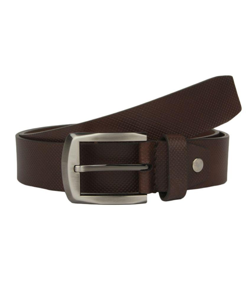 Alvaro Castagnino Brown Formal Single Belt For Men
