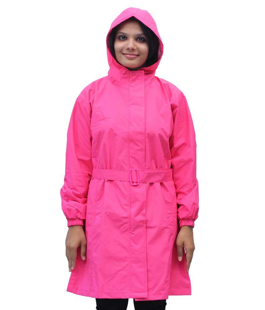 Romano Women'S Pink Monsoon Rain Overcoat