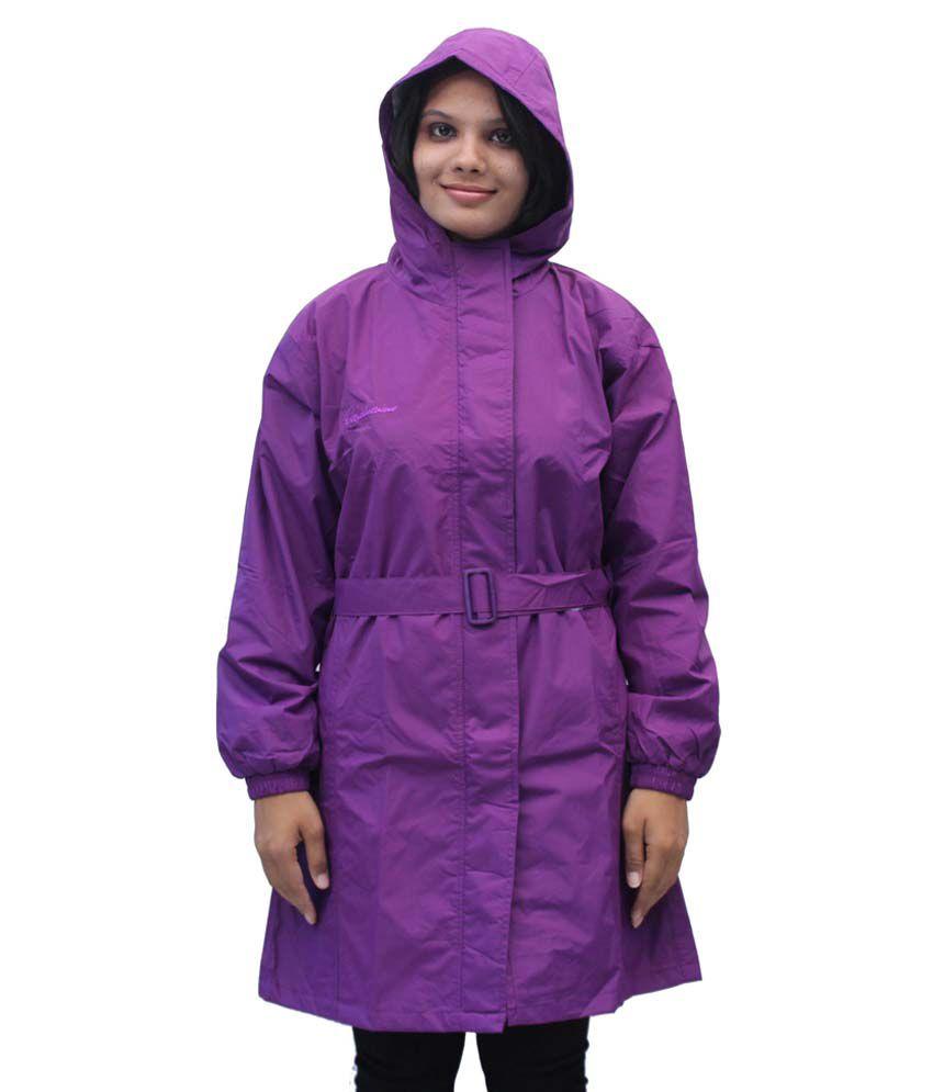 Romano Women'S Purple Rainwear Windcheater Overcoat