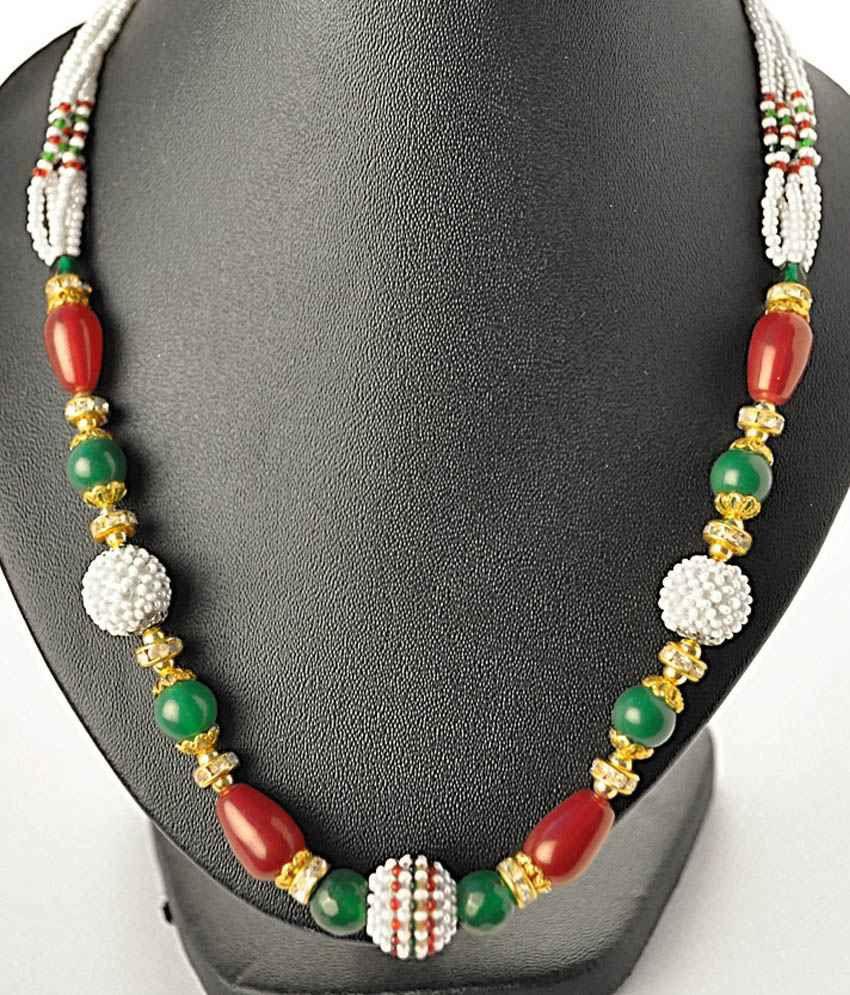 Serebroarts Silver Traditional Pearl Necklace