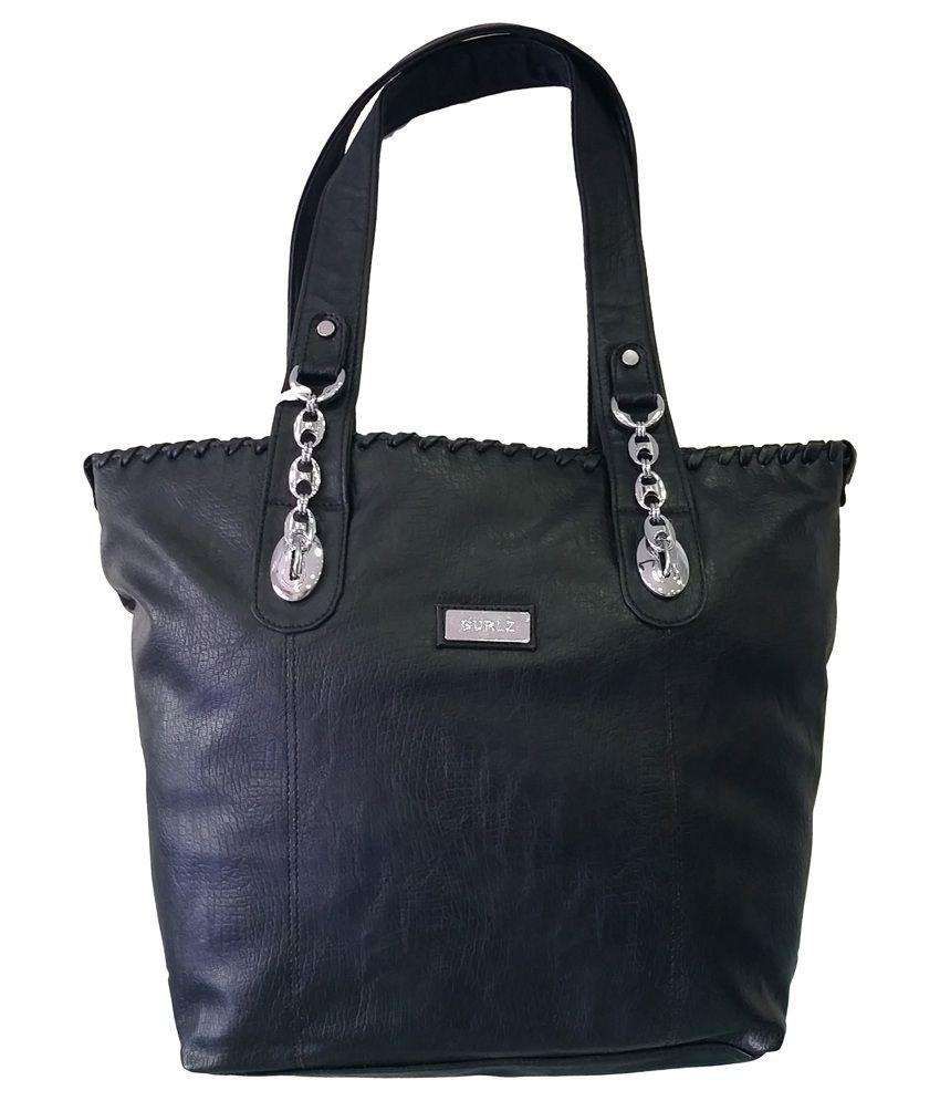 B & D Uk Black Leather Shoulder Bag