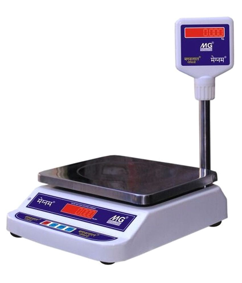 MG Boss MS White & Purple Steel Weighing Machine 30 KG