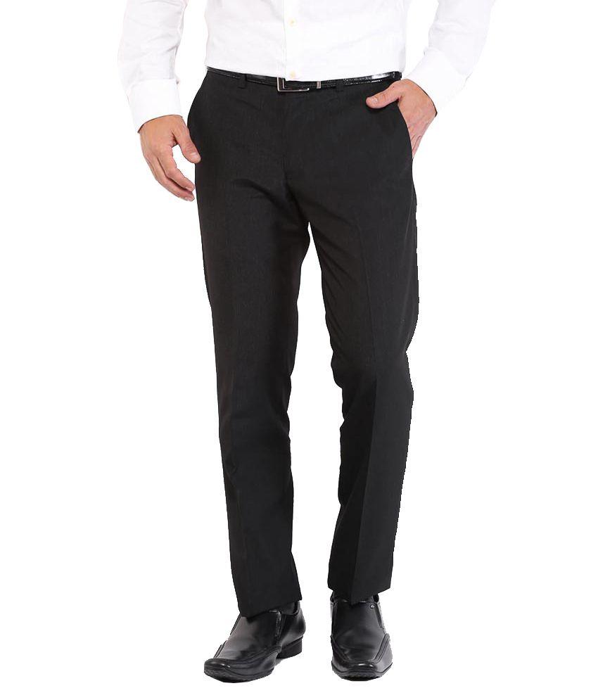 Muskan Black Regular Fit Formal Pack Of 5 Flat