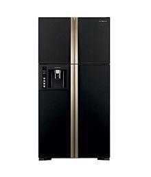 Hitachi 638 ltrs R-W720FPND1X -(GBK)-(Delux) Frost Free Double Door Refrigerator Glass Black