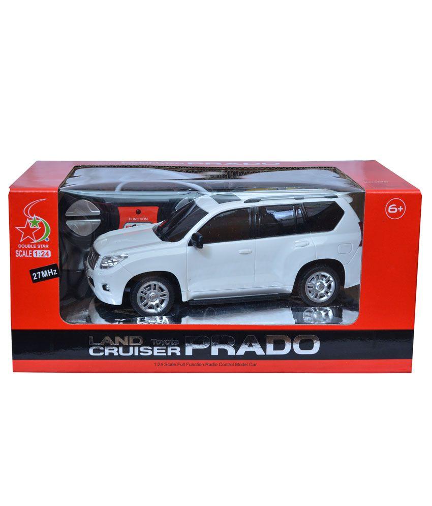 fantasy india rechargeable remote controlled toyota land cruiser prado white car