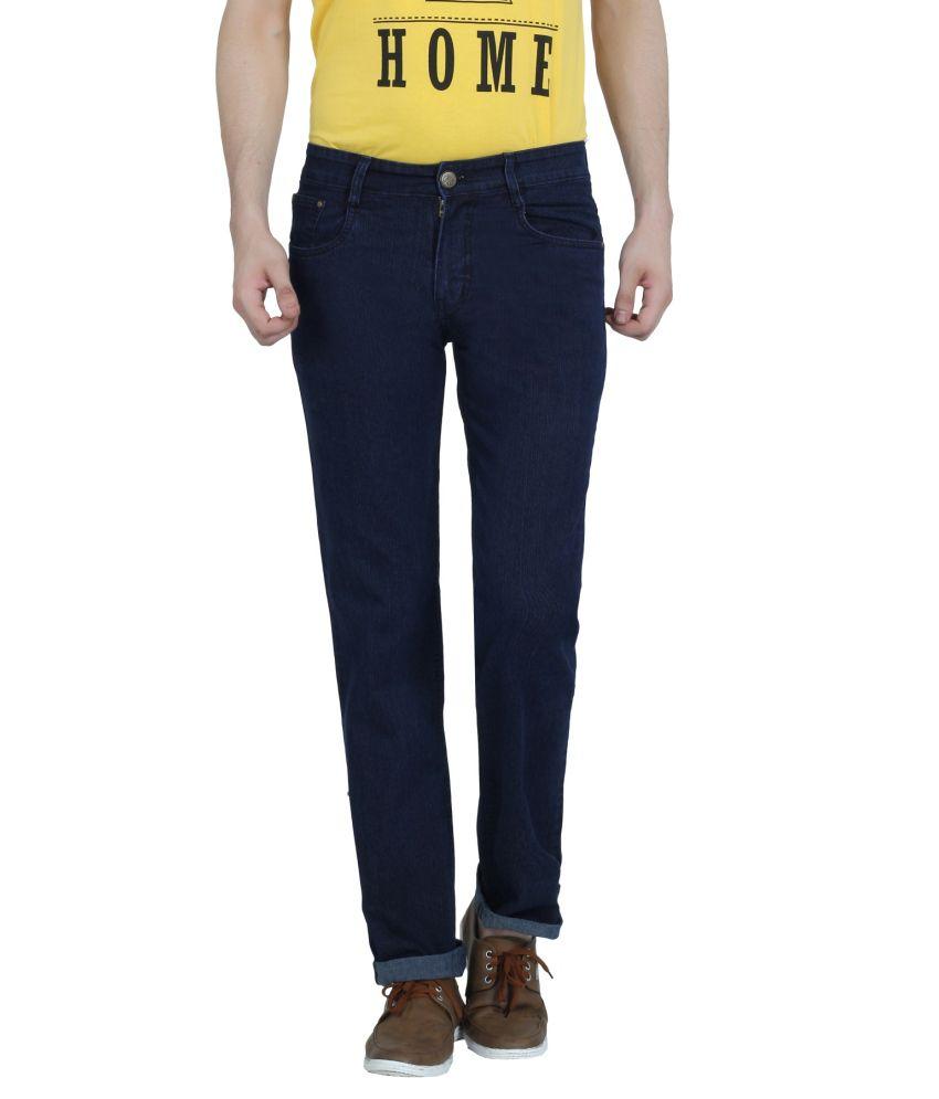 Louppee Navy Regular Fit Jeans for Men