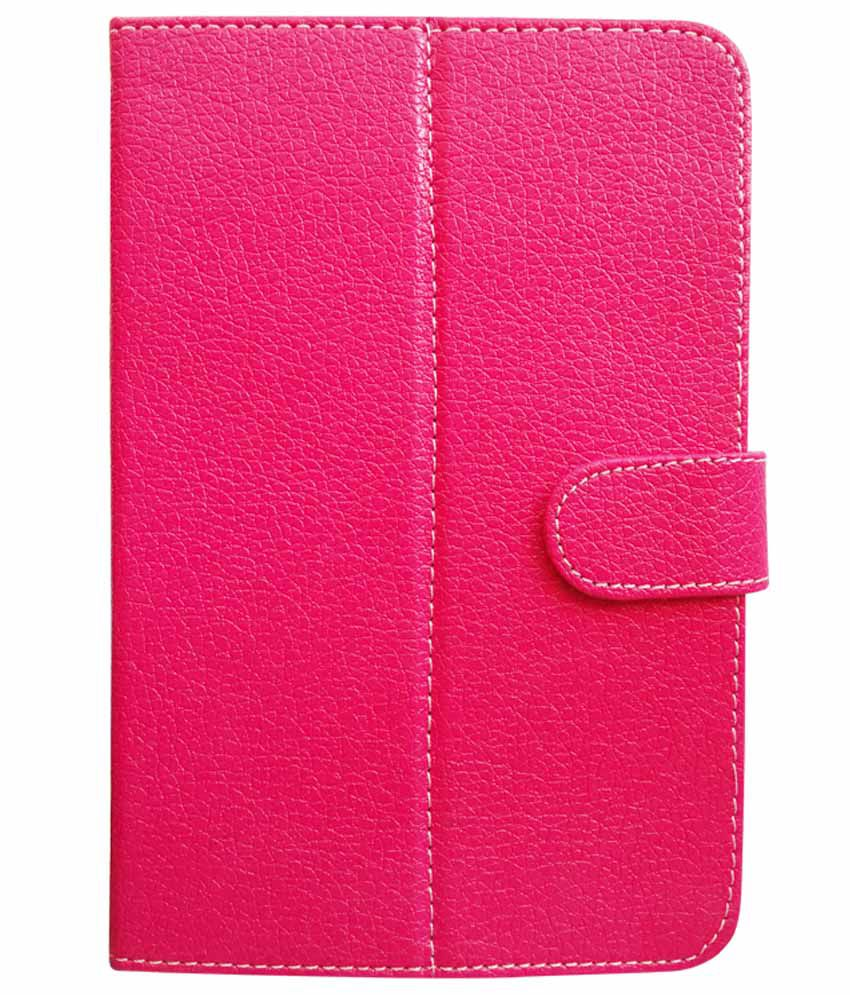 Fastway Flip Cover For Dell Venue 7 3741 With 3G Support-Pink