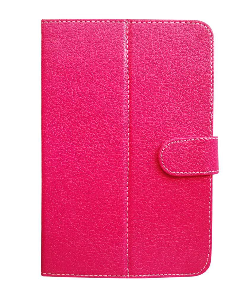 Fastway Flip Cover For Micromax Funbook P600 -Pink
