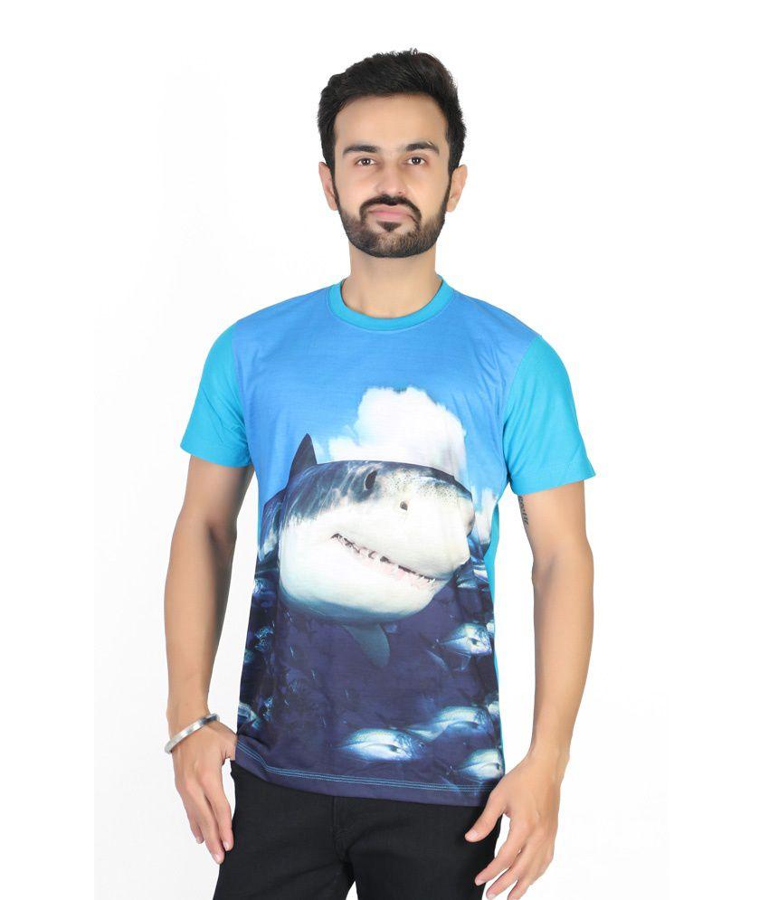 Blu Cris Blue Cotton T-Shirt