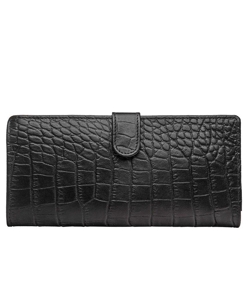 Hidesign 486 Black Leather Passport Travel Wallet