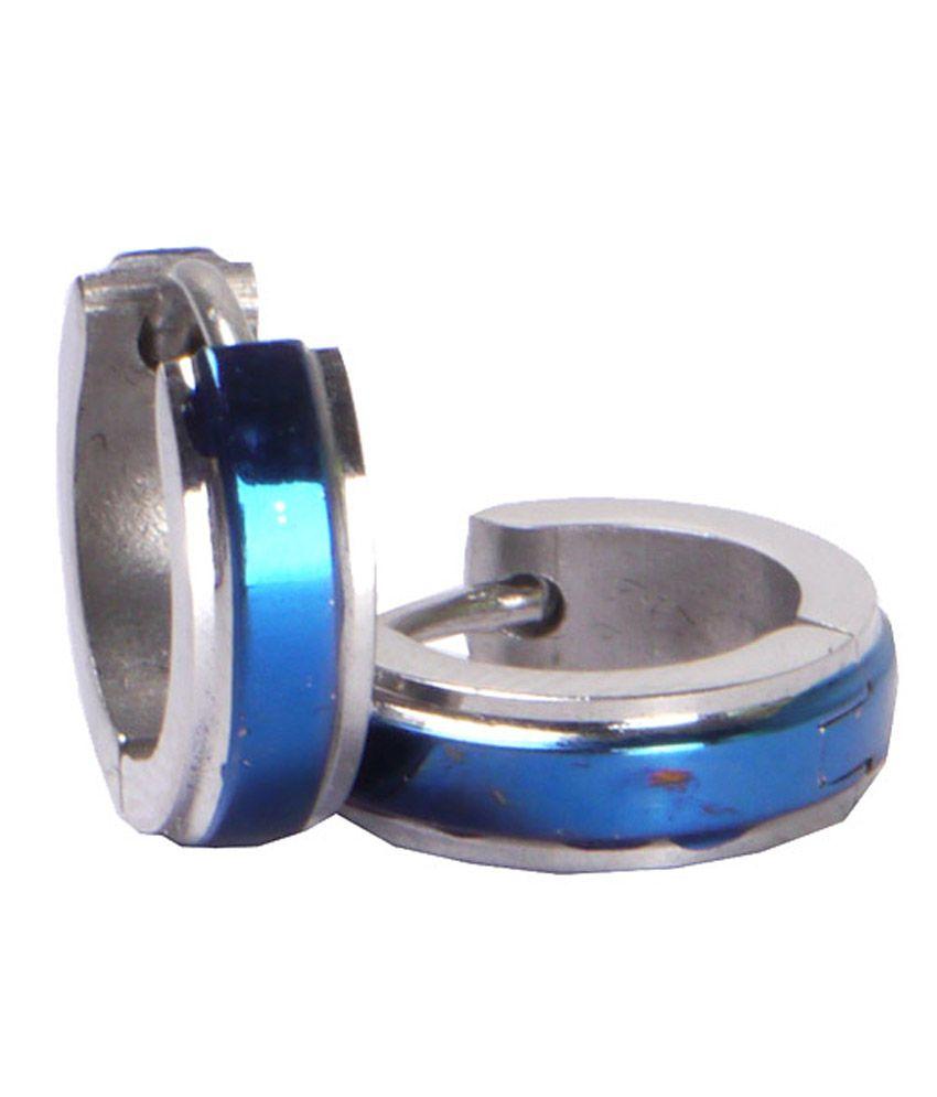 Shotshop Blue Studs Gold Foil Stainless Steel Accessory