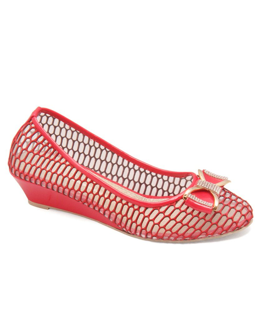 Bali Traders Red Heeled Slip Ons