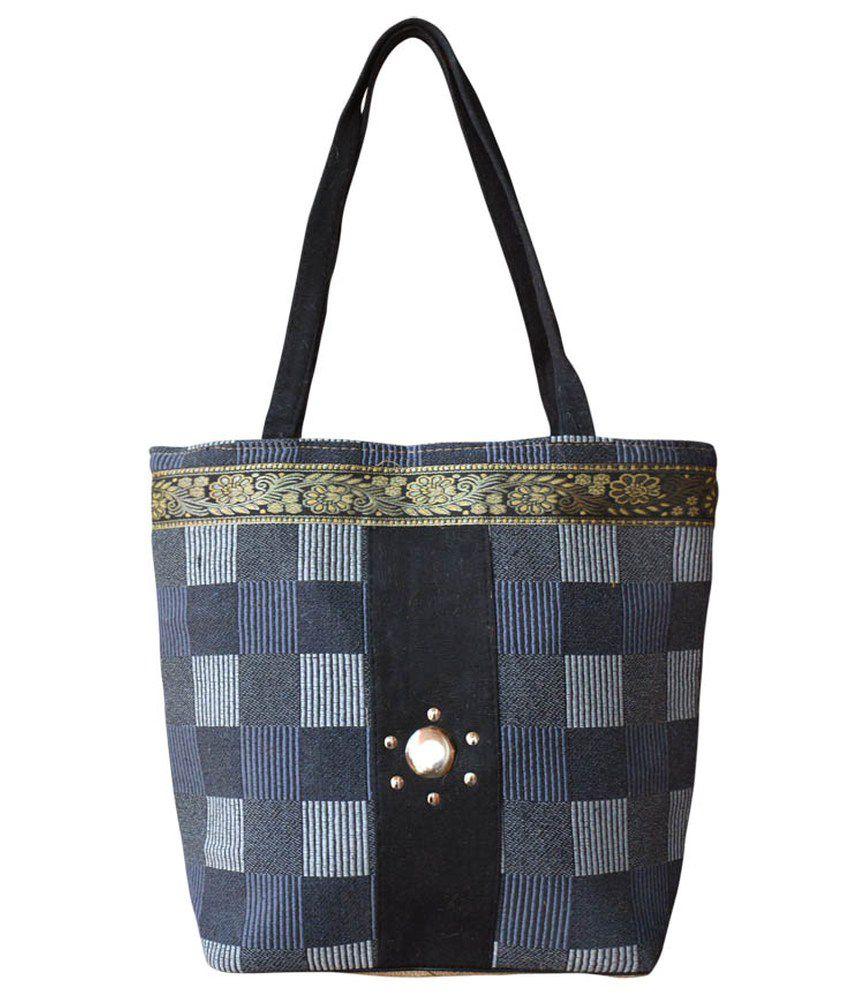 Bueva Black Jute Shoulder Bag